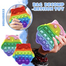 Rainbow Bubble Pops Fidget Kids Toy Sensory Autisim specjalna potrzeba jego antystresowy stres Relief Squishy zabawka spinner losowy kolor tanie tanio CN (pochodzenie) MATERNITY W wieku 0-6m 7-12m 13-24m 25-36m 4-6y 7-12y 12 + y 18 + Zwierzęta i Natura Do jazdy Fantasy i sci-fi
