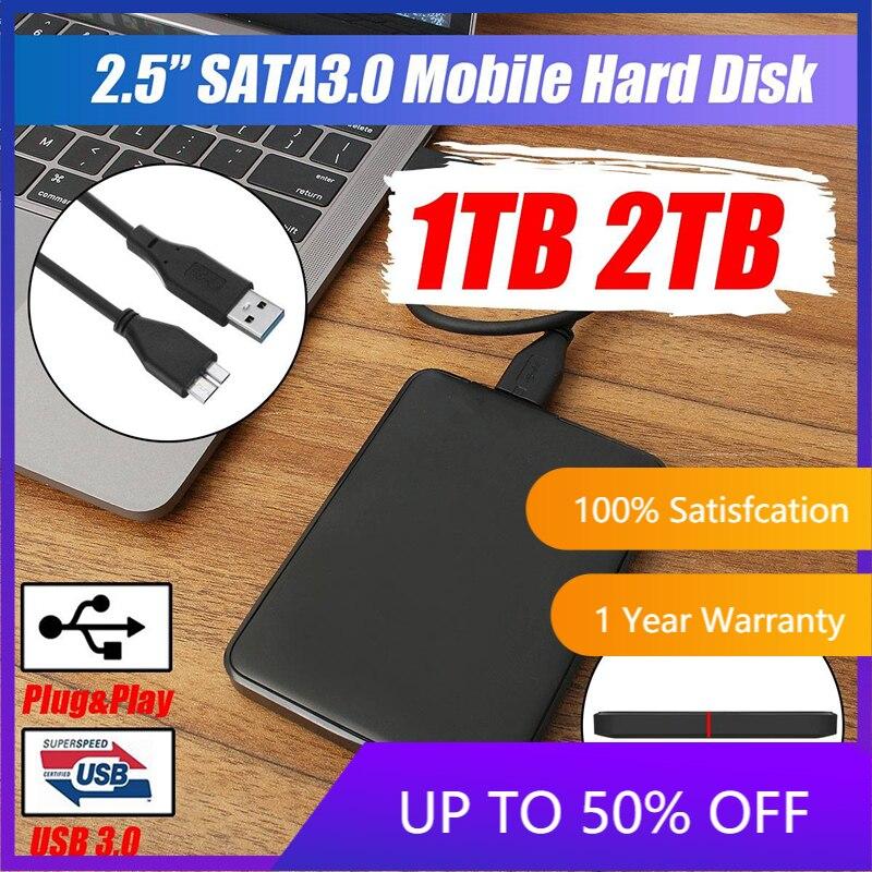 Внешний жесткий диск USB3.0 HDD HD жесткий диск 1 ТБ/2 ТБ мобильный жесткий диск HDD запоминающие устройства для устройств с ОС Mac с функционалом ком...