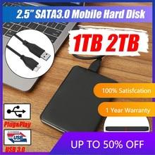 Disco rígido externo usb3.0 hdd hd disco rígido 1tb/2tb dispositivos de armazenamento móveis do disco rígido hdd para macs computador portátil de mesa
