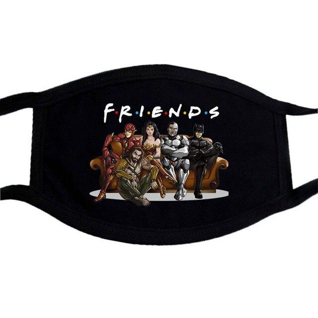 America  Captain Iron Man Superhero Mask Cartoon  Dust Masks Black Casual Keep Warm Black Mask Kpop Mouth Muffle Face Masks 4