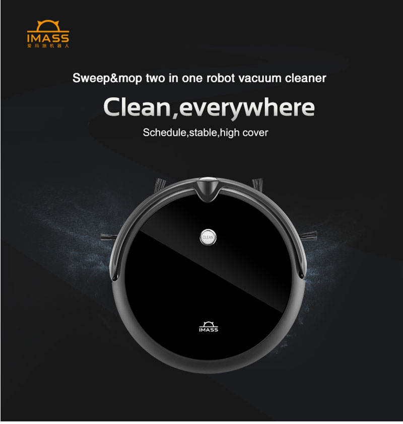 H32e72991a3354e6189075f36f7eb290f8 IMASS A3S Robot Vacuum Cleaner Powerful Suction For Camera Navigation Various Cleaning Mode With APP Control Auto Charge Mopping