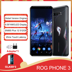 Оригинальный телефон телефона ASUS ROG Phone 3 ZS661KS, смартфон с функцией Snapdragon 865/865Plus, NFC, Android Q, OTA, обновленный игровой телефон ROG3