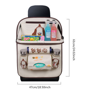 Image 2 - Cartoon Multi Pocket Car Seat Back Hanging Organizer Universal Auto Pad Cup Storage Holder Bag Car styling Protector Accessories