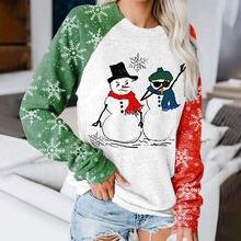 Женский объемный свитшот в стиле оверсайз с изображением рождественской