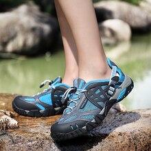 Femmes été chaussures de randonnée en plein air baskets respirant chaussures de Sport grande taille randonnée sandales pour femmes Trekking sentier eau sandales