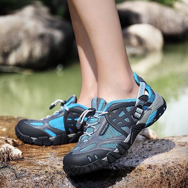 Phụ Nữ Mùa Hè Đi Bộ Đường Dài Giày Ngoài Trời Giày Thoáng Khí Giày Thể Thao Size Lớn Đi Bộ Đường Dài Xăng Đan Nữ Đi Bộ Đường Mòn Nước Xăng Đan