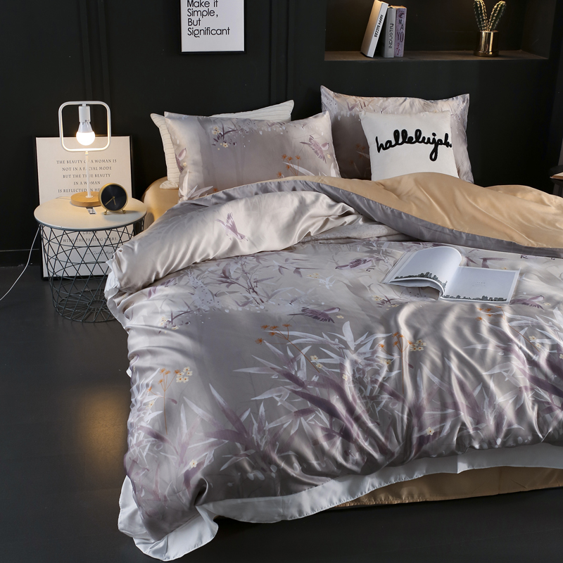 Luxury Satin Silk Duvet Cover Soft Quilt Cover High Quality Home Textile Queen King Double Size