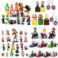 Figuras de acción de Super Mario Bros, Yoshi, peach, princess, luigi, chico timido, Odyssey, Donkey Kong, modelos en PVC de 3-7cm