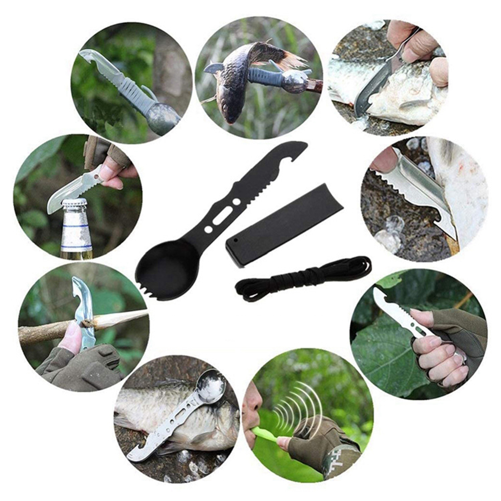 33pcs/set Outdoor Emergency Survival Gear Kit Camping SOS equipment  Christmas Blanket Hiking Essentials Bracelet Man