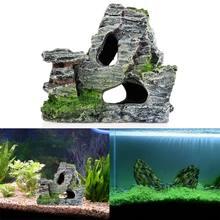 Montagne vue Aquarium roche Grotte Arbre Pont Aquarium Ornement Rocaille décor livraison directe