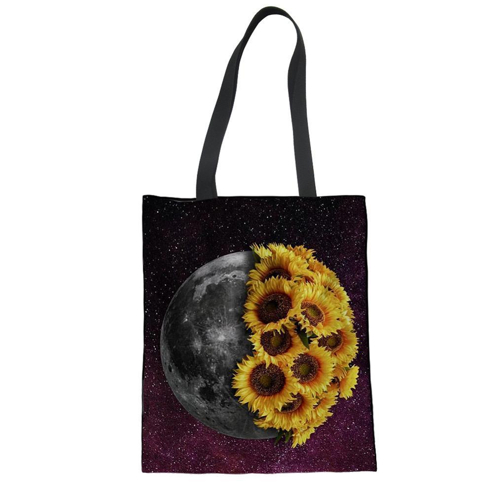 Womens Reusable Shopper Bag Ladies Dog Print ECO Foldaway Tote Bag Girls Bag