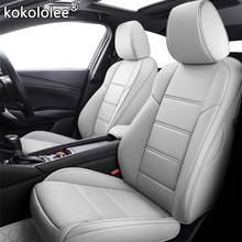 kokololee Custom Leather car seat covers set For PEUGEOT 301 307 408 308 308s 508 3008 2008 4008 5008 auto seats cars syling