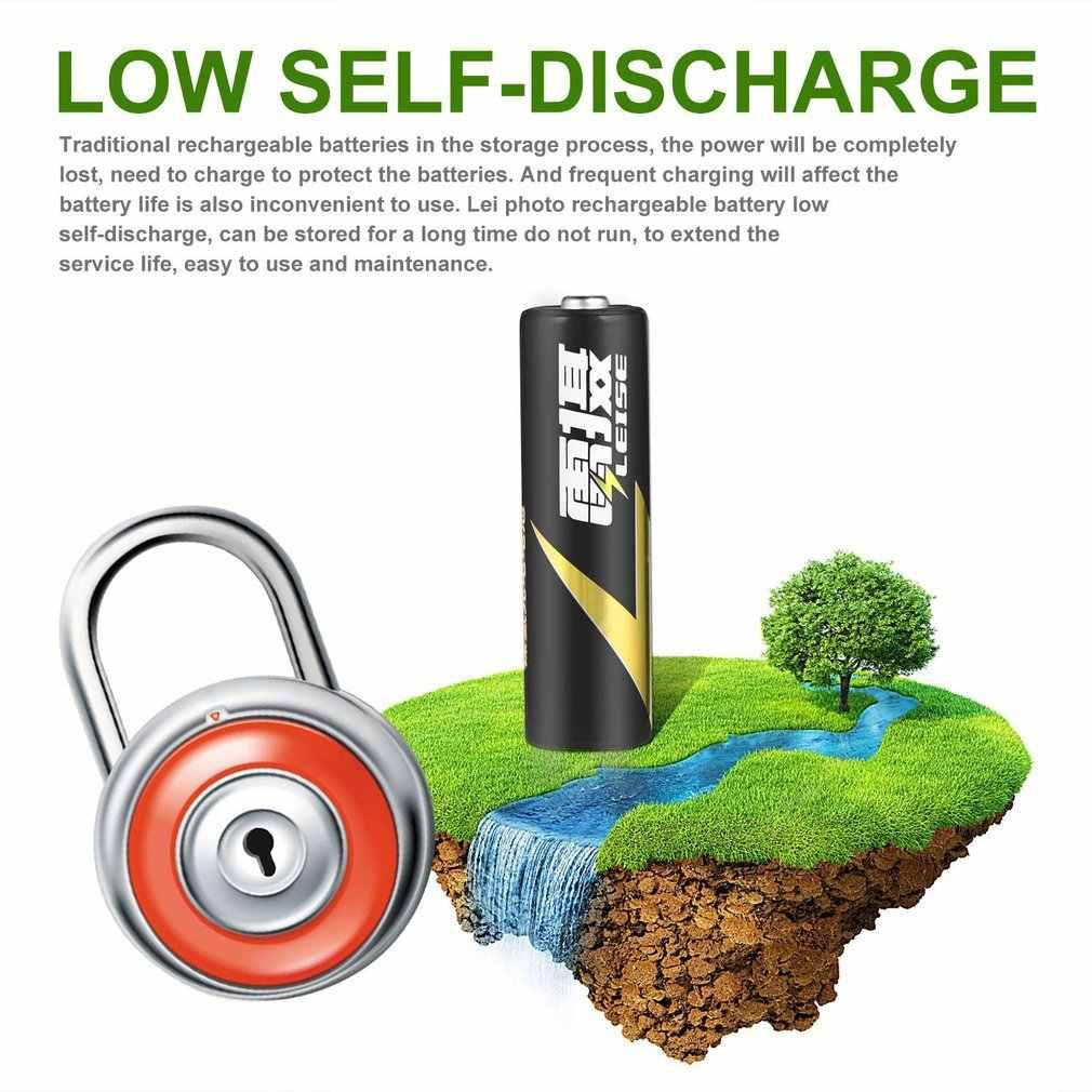 Batería recargable profesional Ni-MH LEISE 1,2 V AA 2100 mAh, respetuosa con el medio ambiente, batería de bajo consumo, inmediatamente negra