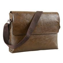 Fashion Mens Handbag Male PU Leather Messenger Bags for Man Casual Business Vintage Crossbody Bag