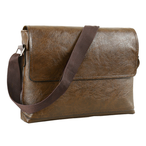 Image 1 - Fashion Mens Handbag Male PU Leather Messenger Bags for Man Casual Business Vintage Crossbody Bag