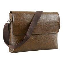 Mode hommes sac à main mâle en cuir PU sacs de messager pour homme décontracté affaires Vintage sac à bandoulière