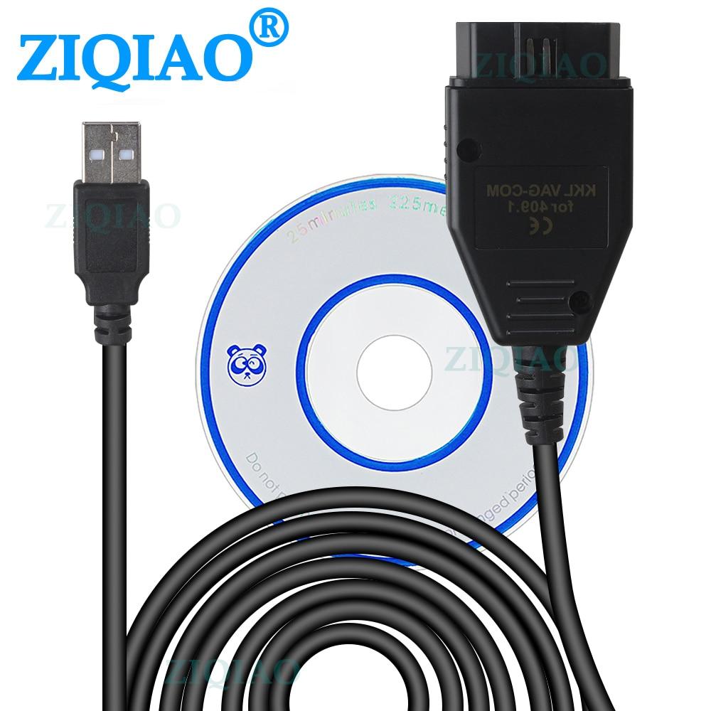 OBD2 USB Kabel VAG-COM KKL 409,1 OBD 2 USB Diagnose Kabel Scanner Scan-Tool für VW Audi Volkswagen Skoda Sitz diagnose Werkzeuge