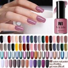 NEE JOLIE 8ml Nail Polish Pure Series Matte Effect Art 7.5ml Mirror Lacquer 64 Colors Available Decoration