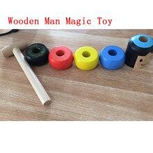 Небьющийся деревянный человек волшебная игрушка immber Daruma Волшебные Трюки крупным планом реквизит для фокусов забавная игрушка аксессуар 1 комплект