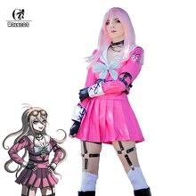 ROLECOS Danganronpa MIU Iruma Cosplay Costume Game Danganronpa V3 Killing Harmony Cosplay Pink Uniform Costume Women Outfit