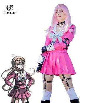 ROLECOS Danganronpa MIU Iruma Cosplay Costume Game Danganronpa V3 Killing Harmony Cosplay Pink Uniform Costume Women Outfit недорого