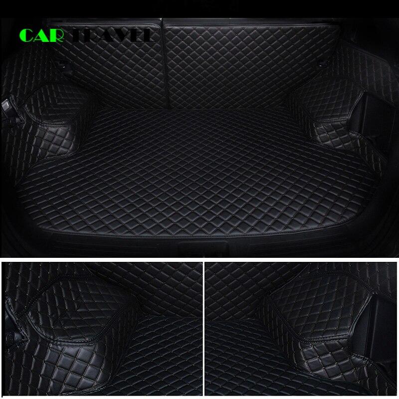 Custom leather Car Trunk Mats For Audi all model A1 A4 A5 A6 Q3 Q5 Q7 A3 A8 A7 S3 S5 S6 S7 S8 R8 TT SQ5 SR4 7 auto styling