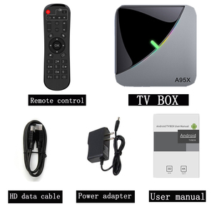 Image 5 - A95x f3 ar smart android 9.0 caixa de tv amlogic s905x3 2g 16g 32g 4g 64g 8 k quad core 4 k conjunto parte superior caixa media player
