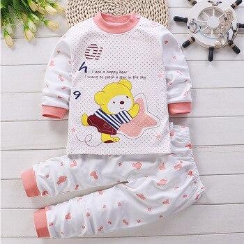 0-24M Baby Clothing Sets Autumn Baby boys Clothes Infant Cotton Girls Clothes 2pcs newborn baby Underwear Kids Clothes Set - F, 3M