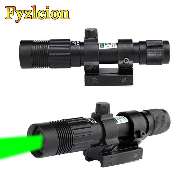 Охотничья винтовка, регулируемая, ночное видение, зеленая точка, лазерный прицел, дизайнерский осветитель, фонарик, подходит для крепления