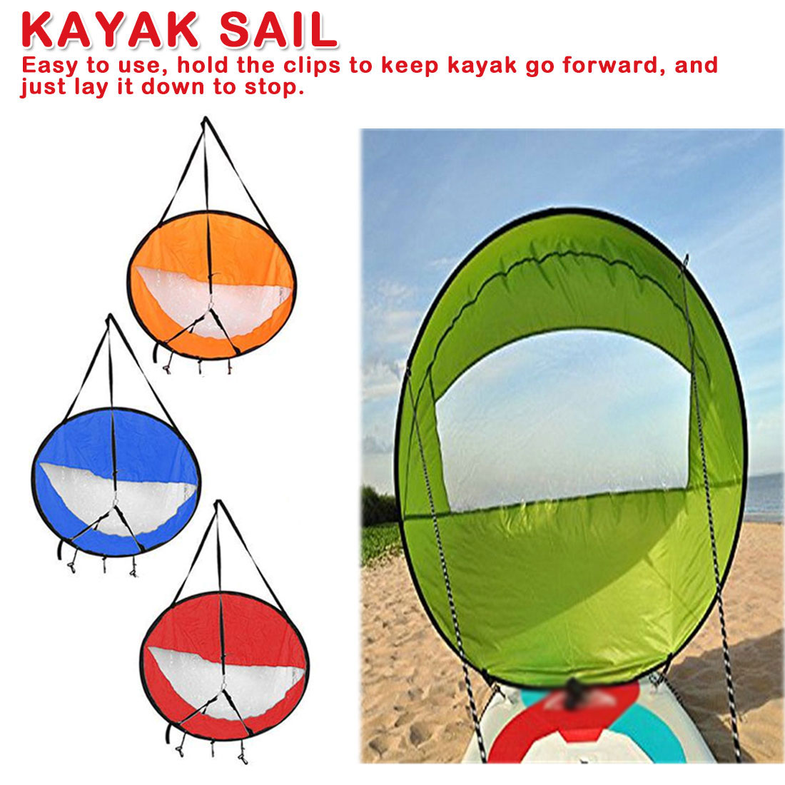 Kit de voile pour Kayak bateau à voile à voile aviron bateau à vent avec fenêtre transparente accessoires pour Kayak