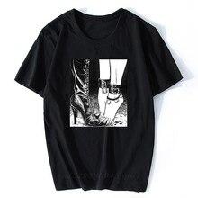 T-shirt homme, décontracté et Hip-Hop, avec motif de Vaporwave, esthétique, japon, Otaku Skate, Junji Ito, 2020