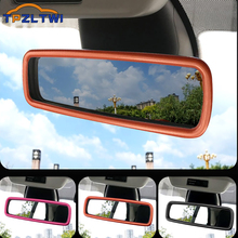 Car Interior Accessories For Mercedes Smart Fortwo Forfour 453 2015 2019 ABS Car Rearview Mirror Decoration Stickers