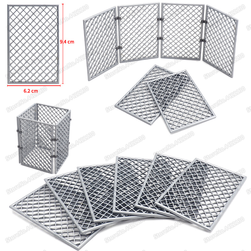 Military Base Barbed Wire Building Block Accessories Figures City Fence Isolation Network Moc Child Christmas Education Gift Toy