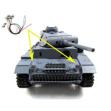 Upgrade Metal Headlight with LED Light for 1/16 Henglong 3848-1 Germany Panzer III Tank RC Tank Parts(China)