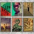 Постеры с изображением завтрака у Тиффани/паразитов/жука/Титаника, настенные постеры в стиле ретро, художественная роспись, настенные накл...