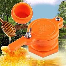 Abelha de plástico mel torneira porta válvula apicultura extrator ferramenta de engarrafamento bom selo reutilizável durável prático apicultura ferramentas