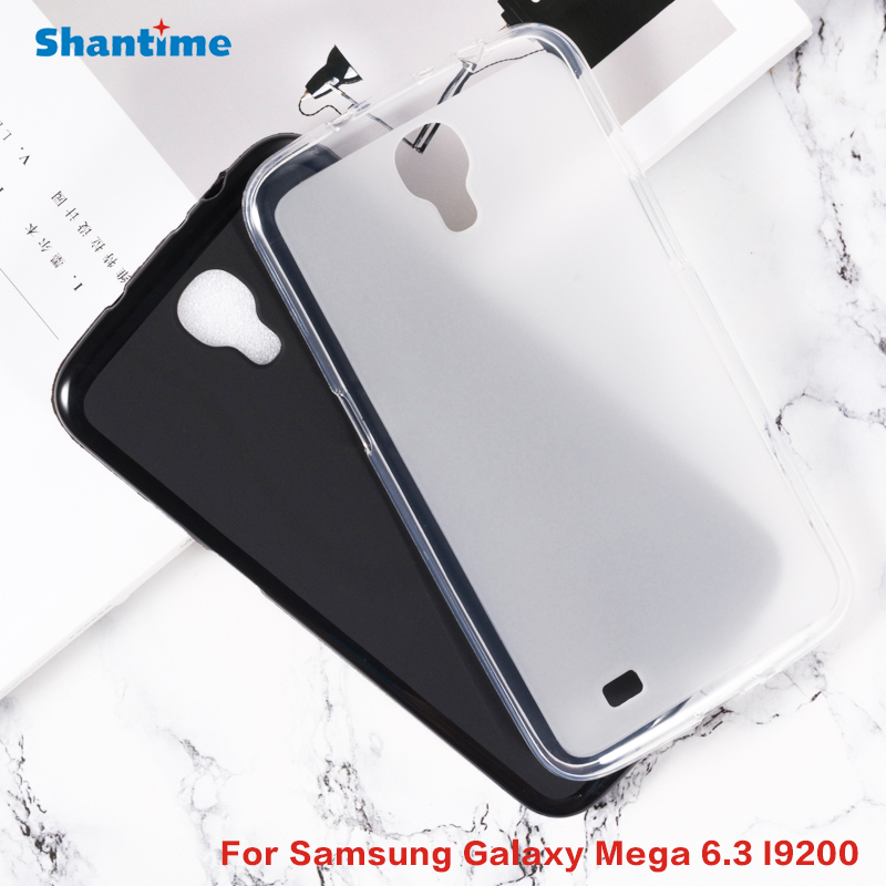 Gel Pudding Silicone Protective Back Shell For Samsung Galaxy Mega 6.3 I9200 2