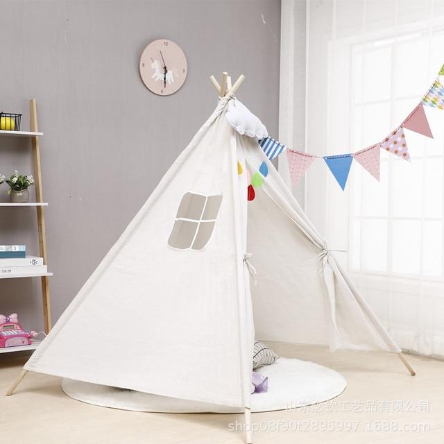 Nordic Style Wooden Teepee Children's Tent  5