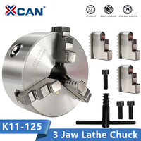 XCAN K11 125 3 Jaw Lathe Chuck Self Centering Hardened Reversible Tool for Drilling Milling Machine Wood Lathe Tool Chuck
