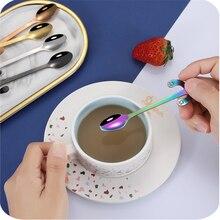 Tableware Spoon Scoop Ice-Cream Stirrer Dessert-Snacks Coffee Stainless-Steel Dog-Pattern