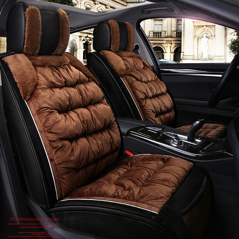 Universal  Car Seat Cover Protector Front Set Fluffy Interior Plush Pad