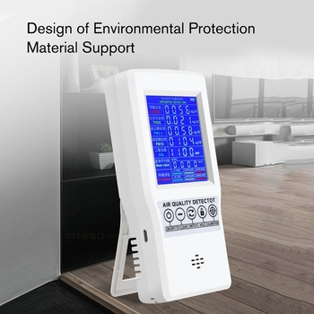 ELEG-Digital LCD Formaldehyde Detector HCHO/TVOC/CO2/PM2.5/PM10 Tester AQI Air Quality Monitor Gas Analyzer