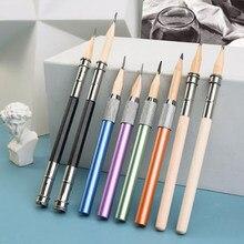 Держатель для карандашей с одной/двойной головкой, регулируемый круглый/треугольный/шестиугольные карандаши для подключения, металлическ...