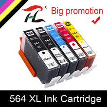 Cartucho de Tinta para hp 564xl 564 564XL YLC compatível para hp photosmart B8550 C6324 C310A C410 6510 D5460 7510 B209A 4610 3070A
