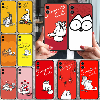 cartoon Simons cat Phone case For Huawei Honor 10 10i 20 6A 7A 8 8A 8X 9 9X Play View 20 Lite Pro black funda silicone Etui 3D image