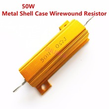 50W 6.8 8 10 15 18 20 22 25 ohm 6.8R 8R 10R 15R 18R 20R 22R 25R Wirewound Aluminum Power Metal Shell Case Resista 5%