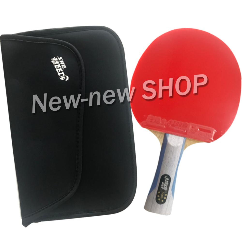DHS 6002 Long Shakehand FL Table Tennis Ping Pong Racket + a Paddle Bag shakehandLong Handle FL-in Table Tennis Rackets from Sports & Entertainment    1