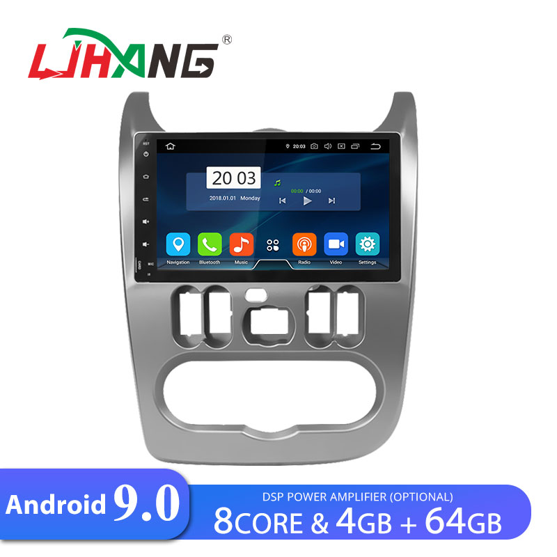 LJHANG <font><b>Car</b></font> <font><b>Radio</b></font> GPS <font><b>Android</b></font> 9.0 For Duster Dacia Logan Sandero WIFI Multimedia GPS Navigation <font><b>1</b></font> <font><b>Din</b></font> <font><b>Car</b></font> <font><b>Radio</b></font> Stereo <font><b>RAM</b></font> <font><b>4GB</b></font> SD image