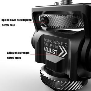 Image 3 - Universal DSLR Monitor Mount Bracket Ballhead Tilt Adjustable Monitor Mount with Cold Shoe Mount for Magic Arm Mic