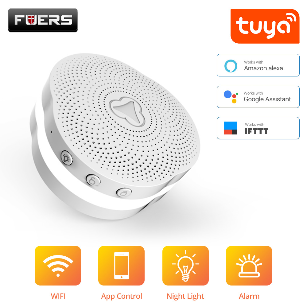 Fuers WiFi Gateway Alarm System Tuya APP Control Intelligent Night Light Smart Home Security System Smart Doorbell